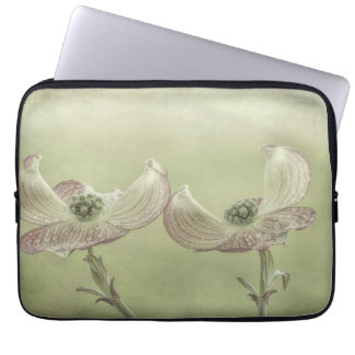 Close-up of Pink Dogwood Blossoms | Seabeck, WA Laptop Sleeve