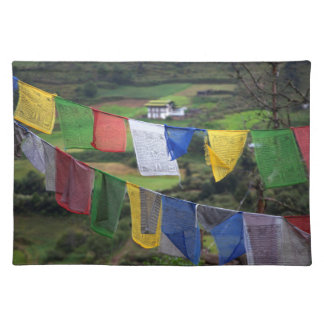 Close Up Of Prayer Flags Placemat