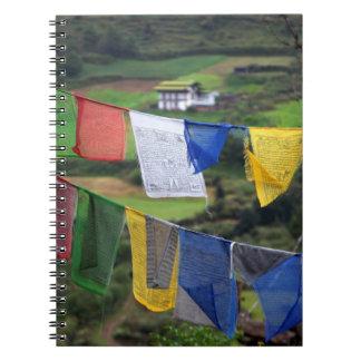 Close Up Of Prayer Flags Spiral Notebook