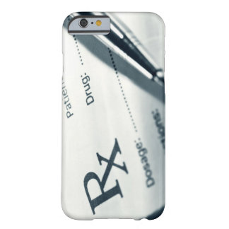 Close up of prescription pad and pen barely there iPhone 6 case