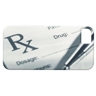 Close up of prescription pad and pen case for the iPhone 5