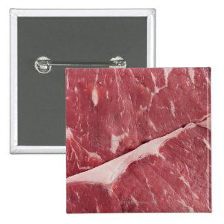 Close-up of raw steak 15 cm square badge