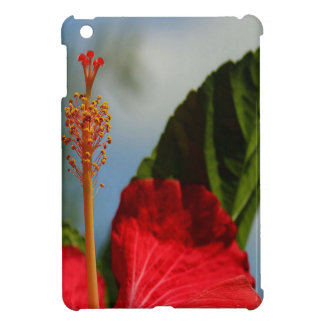 Close Up of Red Hibiscus Stamen and Pollen iPad Mini Case