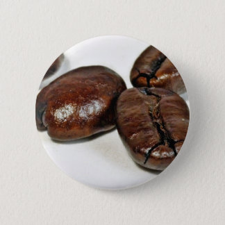 Close Up Of Some Unground Coffee Beans 6 Cm Round Badge