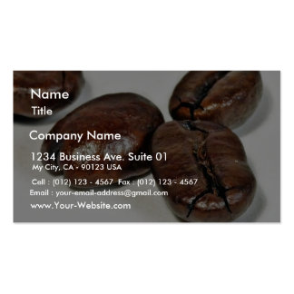 Close Up Of Some Unground Coffee Beans Business Card Template