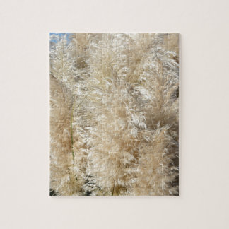 Close-Up of Tall Pampas Grass Plumes Jigsaw Puzzle