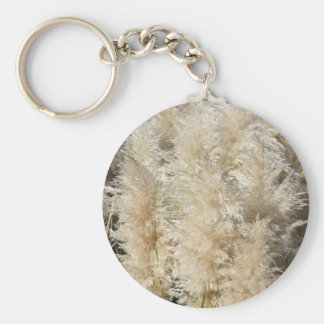 Close-Up of Tall Pampas Grass Plumes Key Ring
