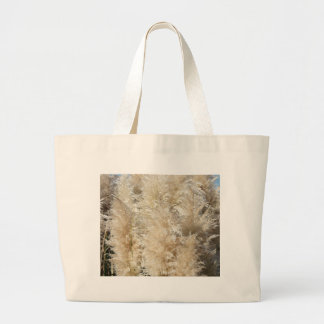 Close-Up of Tall Pampas Grass Plumes Large Tote Bag