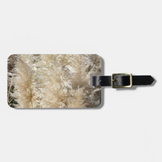 Close-Up of Tall Pampas Grass Plumes Luggage Tag