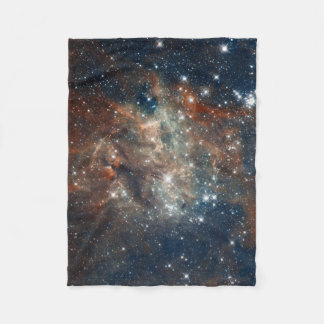 Close-up of the Tarantula Nebula Fleece Blanket