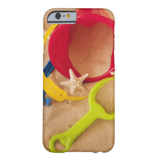 Close up of toys on sand barely there iPhone 6 case