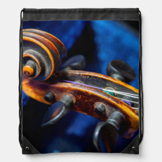 Close-Up Of Violin In Its Case Rucksacks