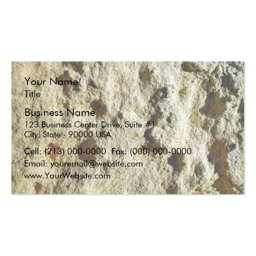 Close-up of Weathered limestone texture Business Card