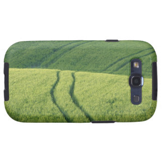 Close up of Wheat Field with Tire Tracks, Samsung Galaxy SIII Cases