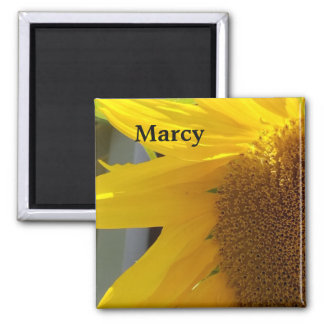 Close Up of Yellow Sunflower Magnet