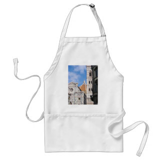 Close up on Florence. Aprons