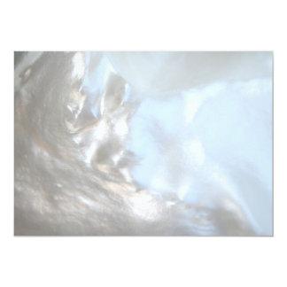 Close up Photo. Picture of a Seashell. Custom Invitation