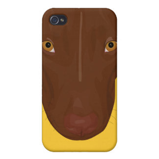 Close Up Portrait of Pit Bull - Digital Art Case For The iPhone 4