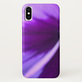 Close Up Purple Petal Design iPhone X Case