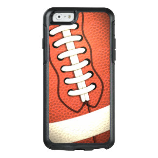 Close Up Red Pigskin American Football White Laces OtterBox iPhone 6/6s Case