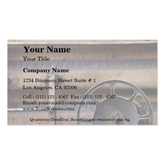 Close-up, rusted train car business card template