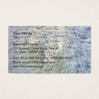 Close up sheepskin texture business card