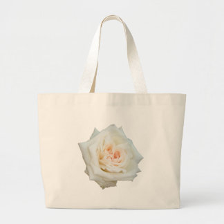 Close Up View Of A Beautiful White Rose Isolated Bags