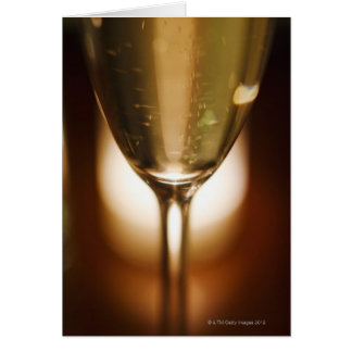 Close-up view of champagne glass card