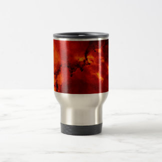 Close Up View of the Rosette Nebula Caldwell 49 Stainless Steel Travel Mug