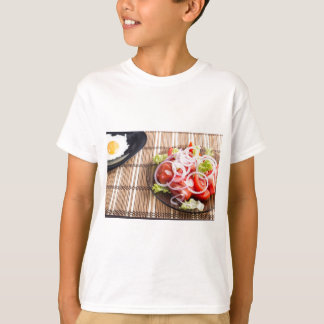 Close-up view on natural homemade breakfast T-Shirt