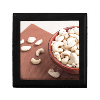 Close Up view on raw cashew nuts for vegetarian Small Square Gift Box