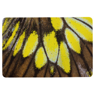 Close-up Wing Pattern of Tropical Butterfly Floor Mat
