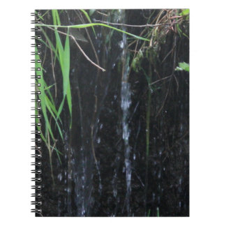 Close Up Woodland Waterfall Spiral Notebook