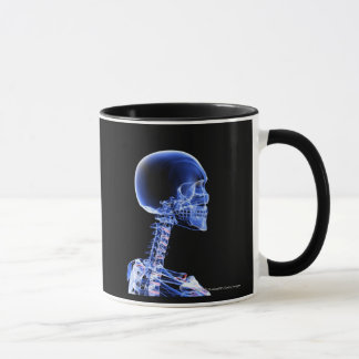 Close up x-ray of the bones in the neck mug