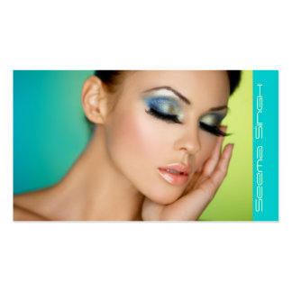 Closed eyes makeup pack of standard business cards