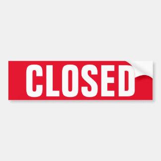 Closed for business window door sign vinyl sticker