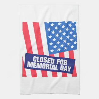 Closed For Memorial Day Tea Towel