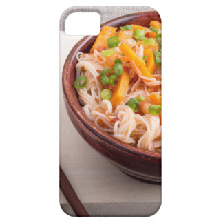 Closeup Asian dish of rice noodles and vegetable iPhone 5 Covers