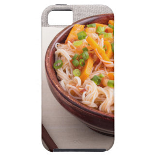 Closeup Asian dish of rice noodles and vegetable Tough iPhone 5 Case