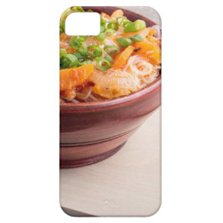 Closeup Asian food of rice noodles and vegetables iPhone 5 Cover