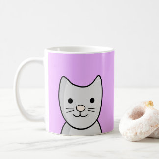 Closeup Grey Kitty Cat Mug