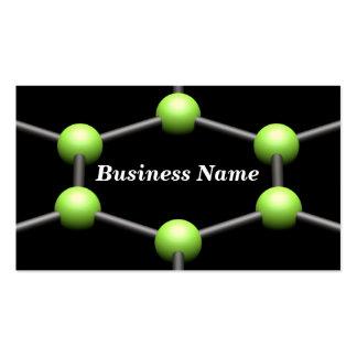 Closeup of a 3D Molecular Structure (Green) Business Card