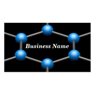 Closeup of a 3D Molecular Structure Light Blue Business Card