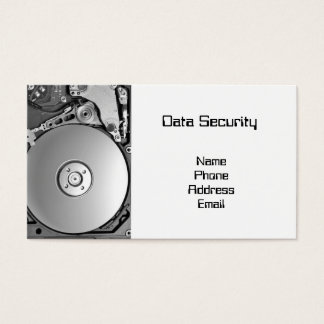Closeup of a Hard Disk -- Computer Security Business Card