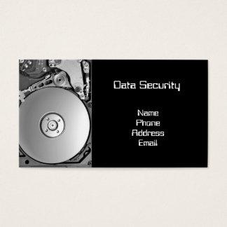 Closeup of a Hard Disk -- Data Security Business Card