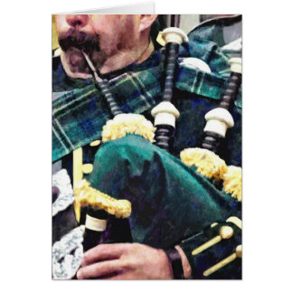 Closeup of Bagpiper Card