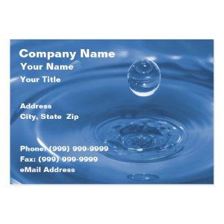 Closeup of Blue Water Drop Business Card