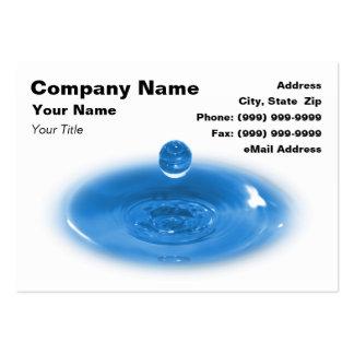 Closeup of Blue Water Drop Business Cards