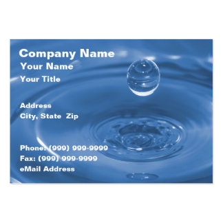 Closeup of Blue Water Drop Pack Of Chubby Business Cards