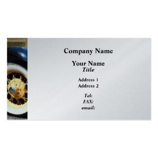 Closeup of Car Wheel - Platinum Finish Pack Of Standard Business Cards